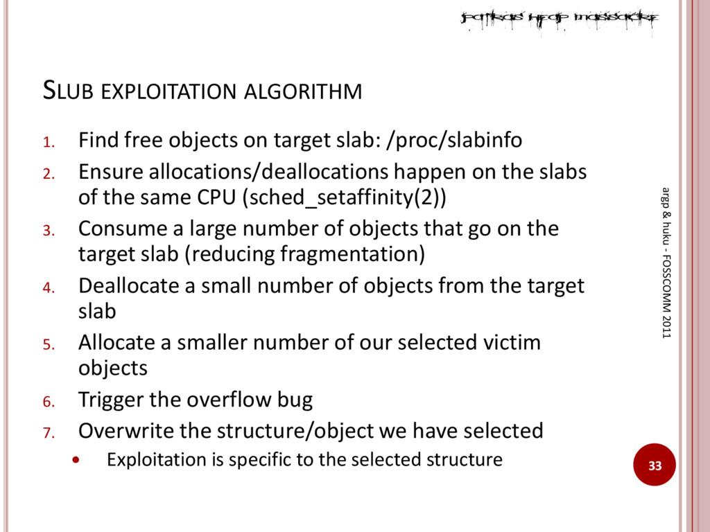 SLUB EXPLOITATION ALGORITHM 33 argp & huku - FO...