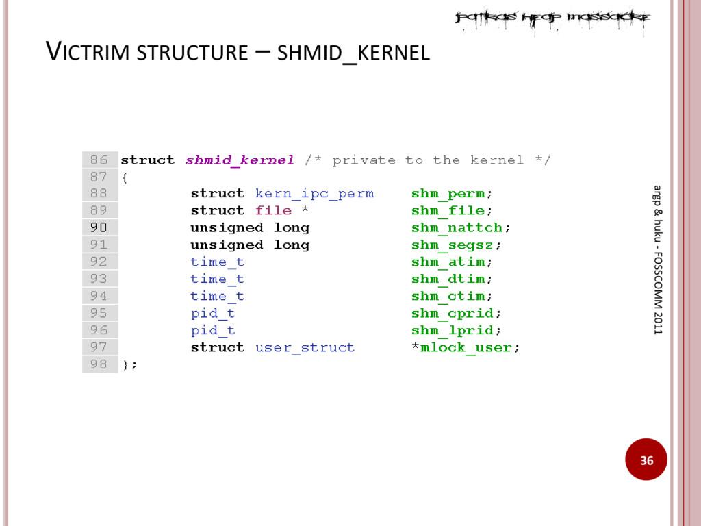 VICTRIM STRUCTURE – SHMID_KERNEL 36 argp & huku...