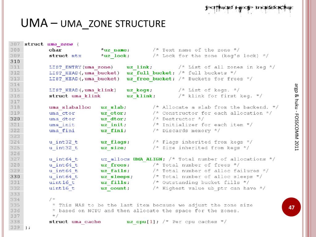 UMA – UMA_ZONE STRUCTURE 47 argp & huku - FOSSC...