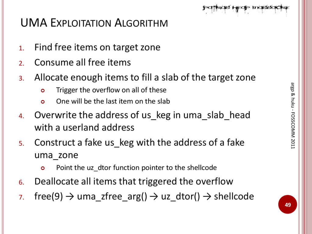 UMA EXPLOITATION ALGORITHM 49 argp & huku - FOS...