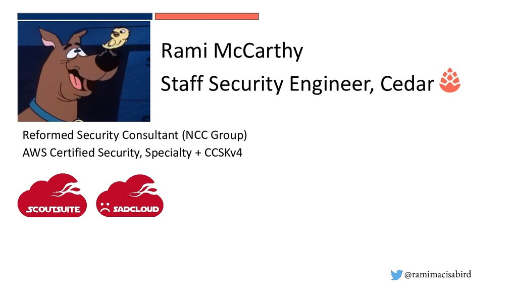 @ramimacisabird Reformed Security Consultant (N...