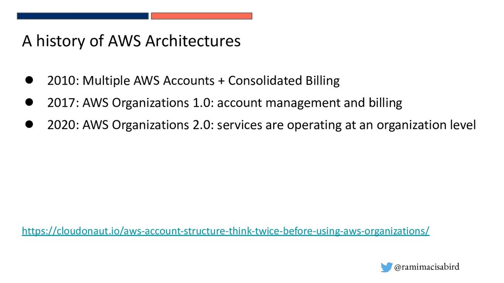 @ramimacisabird A history of AWS Architectures ...