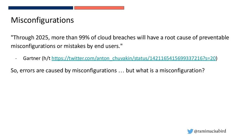"@ramimacisabird Misconfigurations ""Through 2025..."