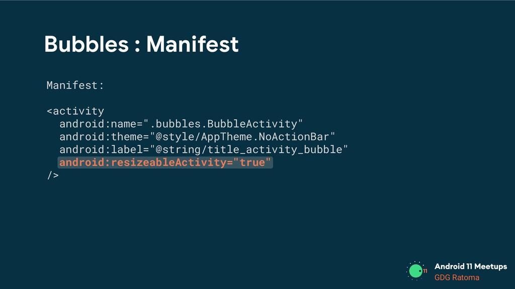 GDG Location GDG Ratoma Bubbles : Manifest Mani...