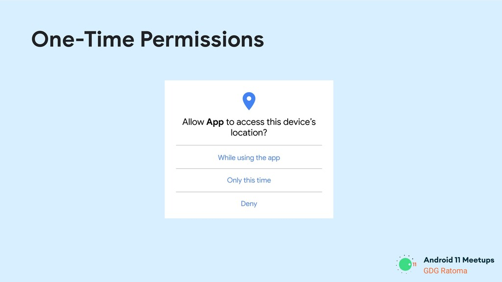 GDG Location GDG Ratoma One-Time Permissions