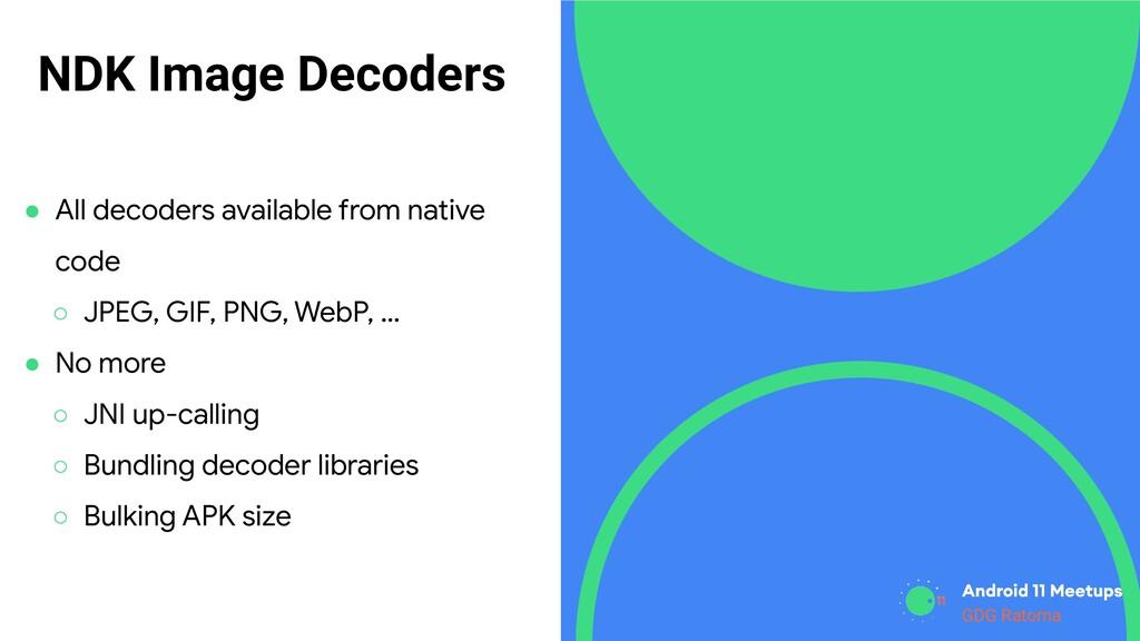 GDG Location GDG Ratoma NDK Image Decoders ● Al...