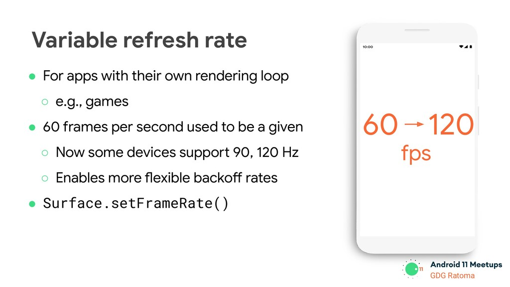 GDG Location GDG Ratoma Variable refresh rate ●...