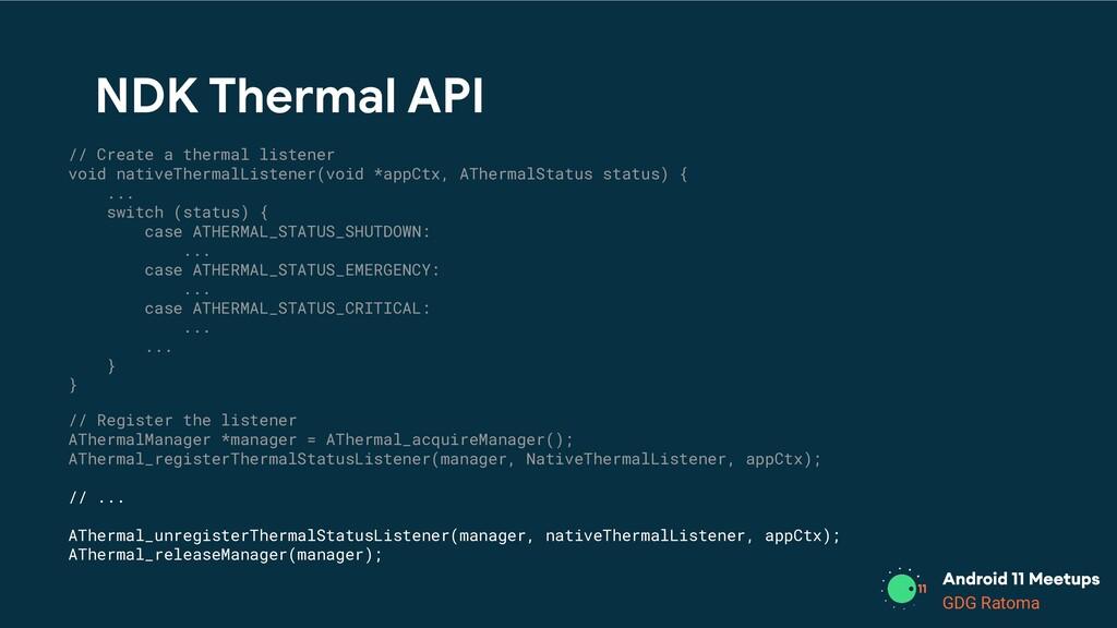 GDG Location GDG Ratoma NDK Thermal API // Crea...