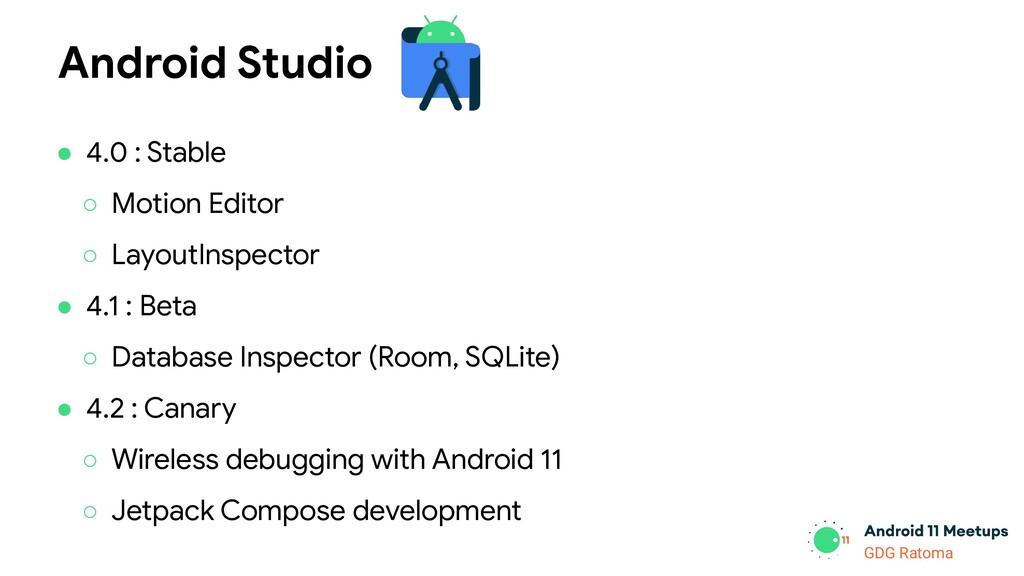 GDG Location GDG Ratoma Android Studio ● 4.0 : ...