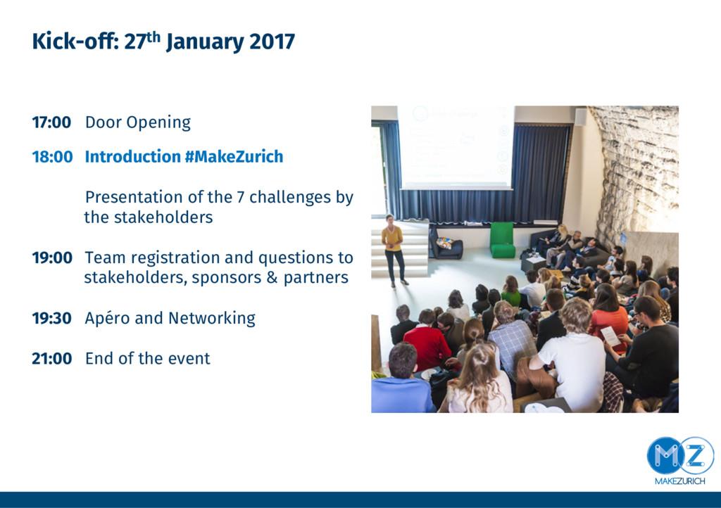 Kick-off: 27th January 2017 17:00 Door Openin...