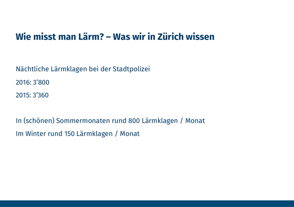 Wie misst man Lärm? – Was wir in Zürich wissen...