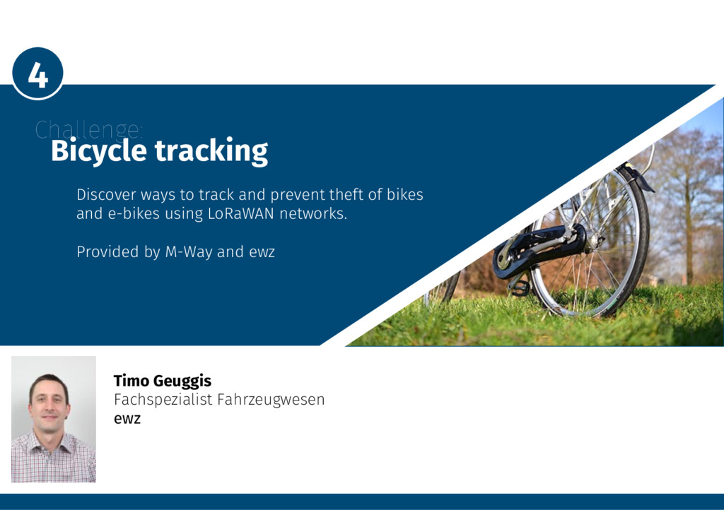 4 Challenge: Bicycle tracking Discover way...