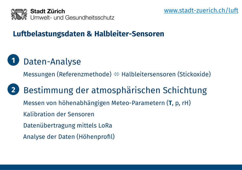 Luftbelastungsdaten & Halbleiter-Sensoren  1....