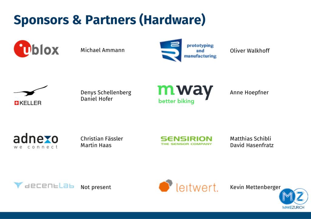 Sponsors & Partners (Hardware) Denys Schellenb...