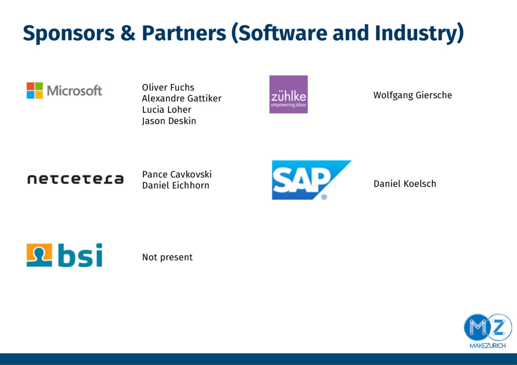 Sponsors & Partners (Software and Industry) Ol...