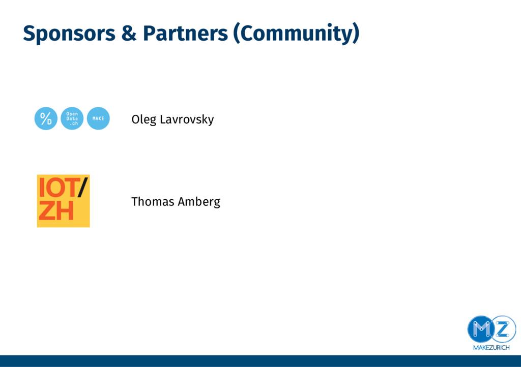 Sponsors & Partners (Community)        ...