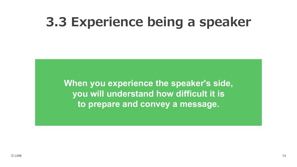 When you experience the speaker's side, you wil...