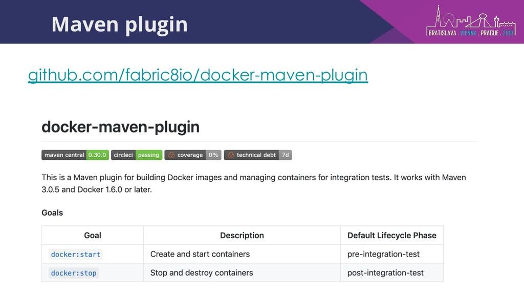 Maven plugin github.com/fabric8io/docker-maven-...