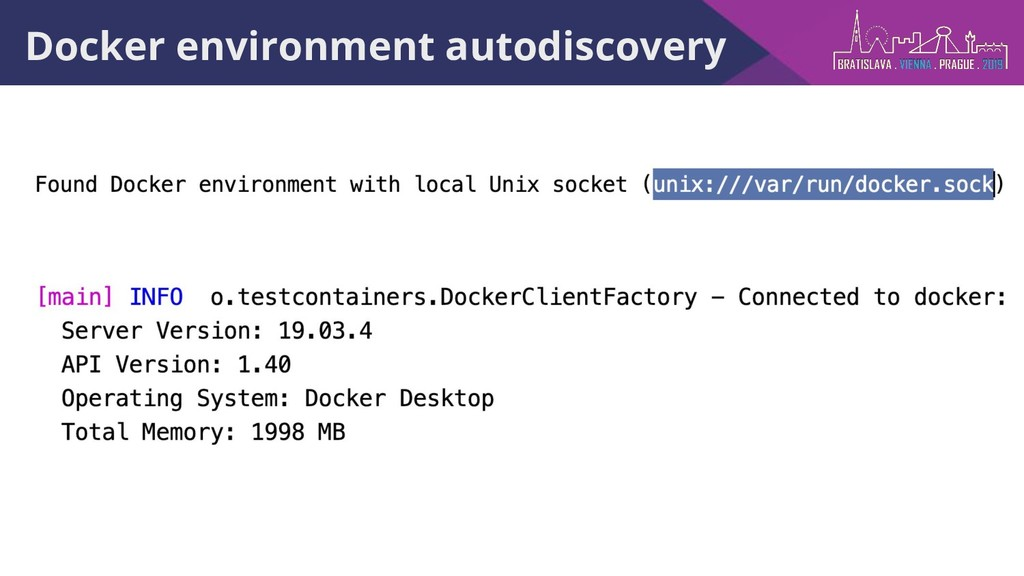 Docker environment autodiscovery