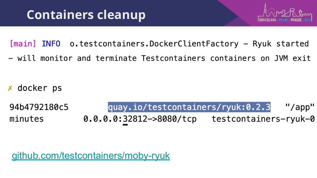 Containers cleanup github.com/testcontainers/mo...
