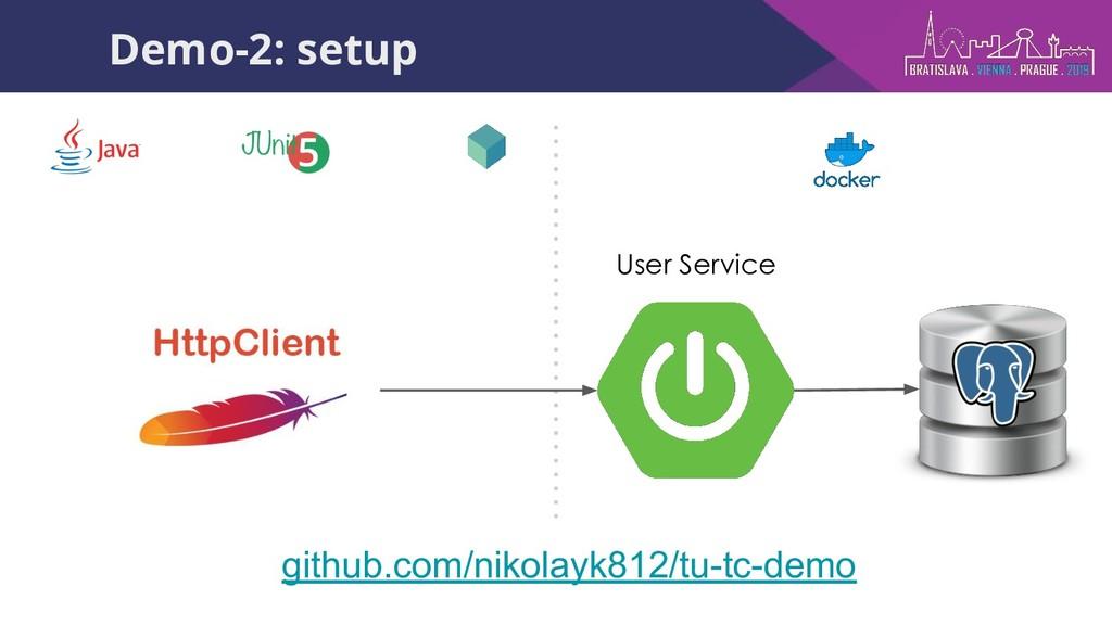 github.com/nikolayk812/tu-tc-demo Demo-2: setup...