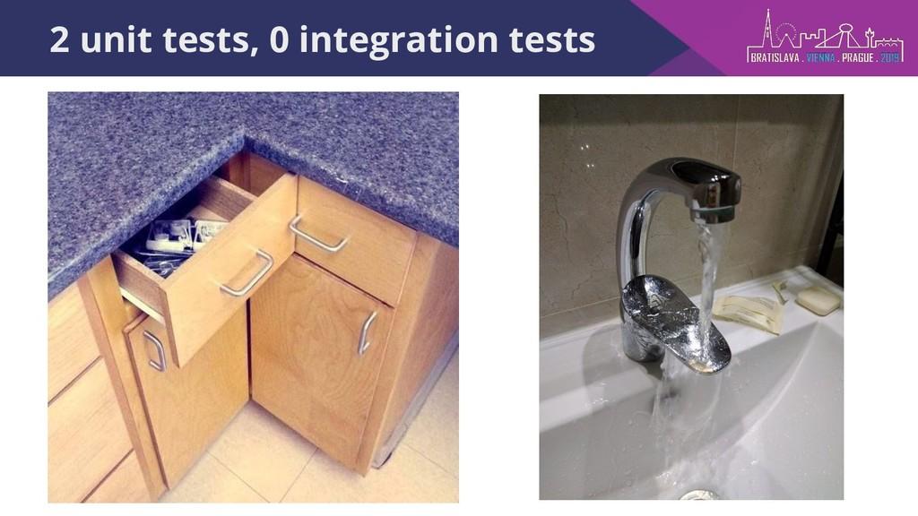 2 unit tests, 0 integration tests