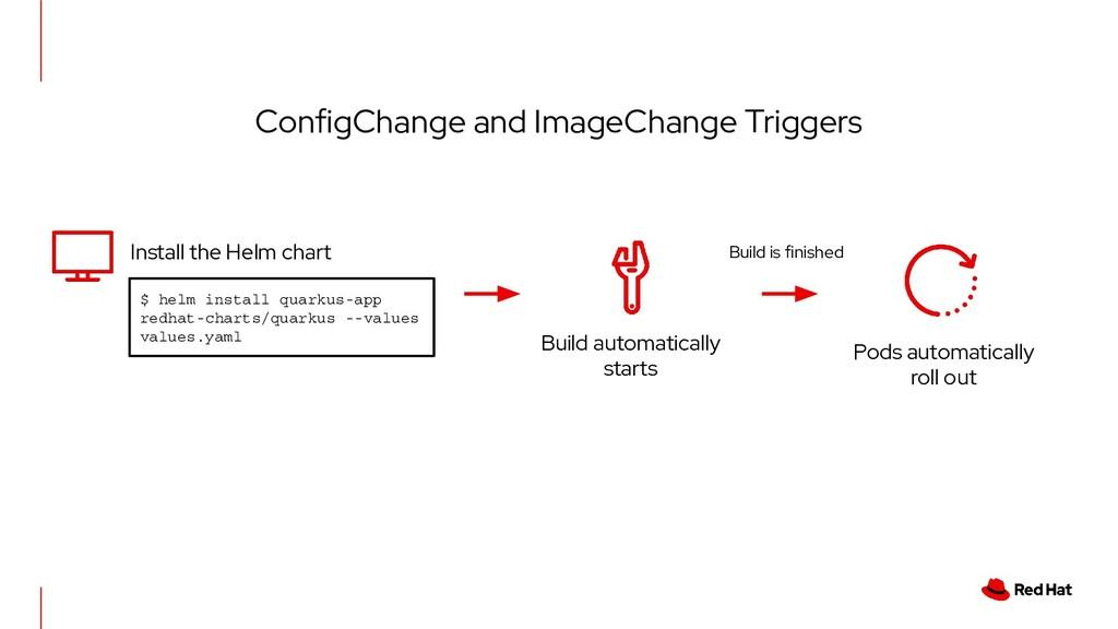 ConfigChange and ImageChange Triggers $ helm in...