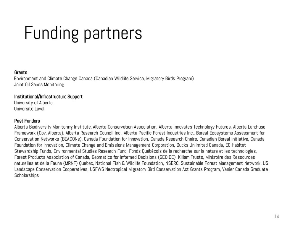 Funding partners 14 Grants Environment and Clim...
