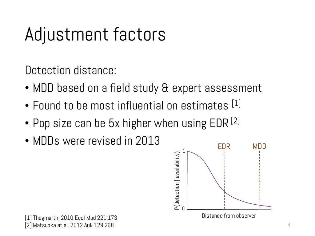 Adjustment factors Detection distance: • MDD ba...