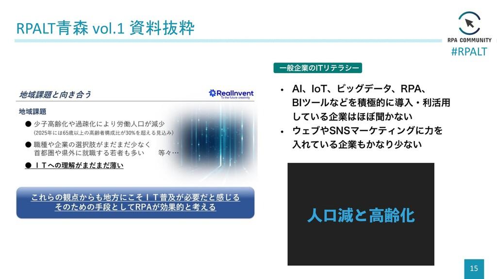 #RPALT RPALT青森 vol.1 資料抜粋 15