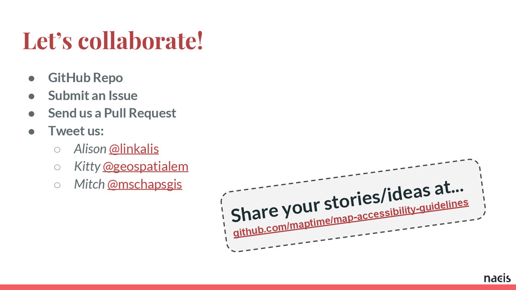 Let's collaborate! ● GitHub Repo ● Submit an Is...