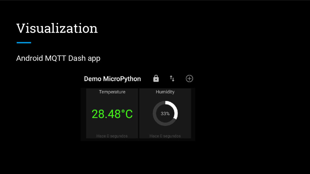 Visualization Android MQTT Dash app