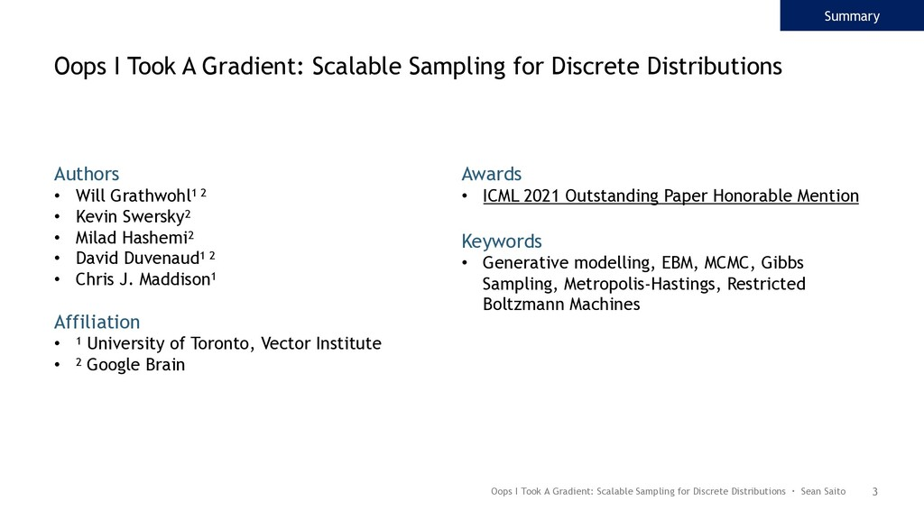 3 Oops I Took A Gradient: Scalable Sampling for...