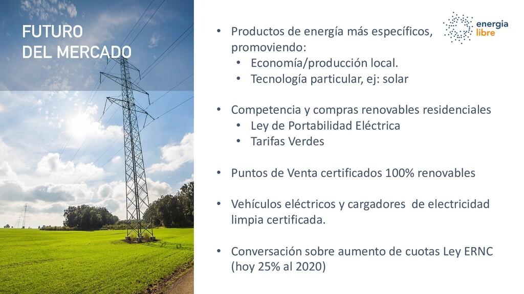 FUTURO DEL MERCADO FUTURO DEL MERCADO • Product...