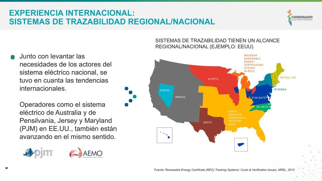 6 EXPERIENCIA INTERNACIONAL: SISTEMAS DE TRAZAB...