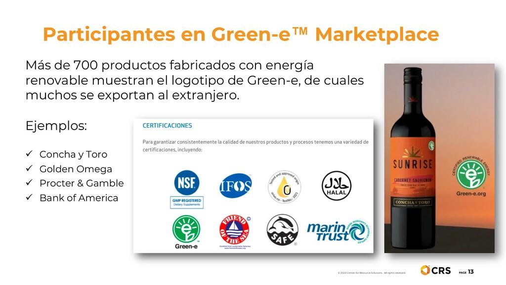 Participantes en Green-e™ Marketplace PAGE 13 ©...