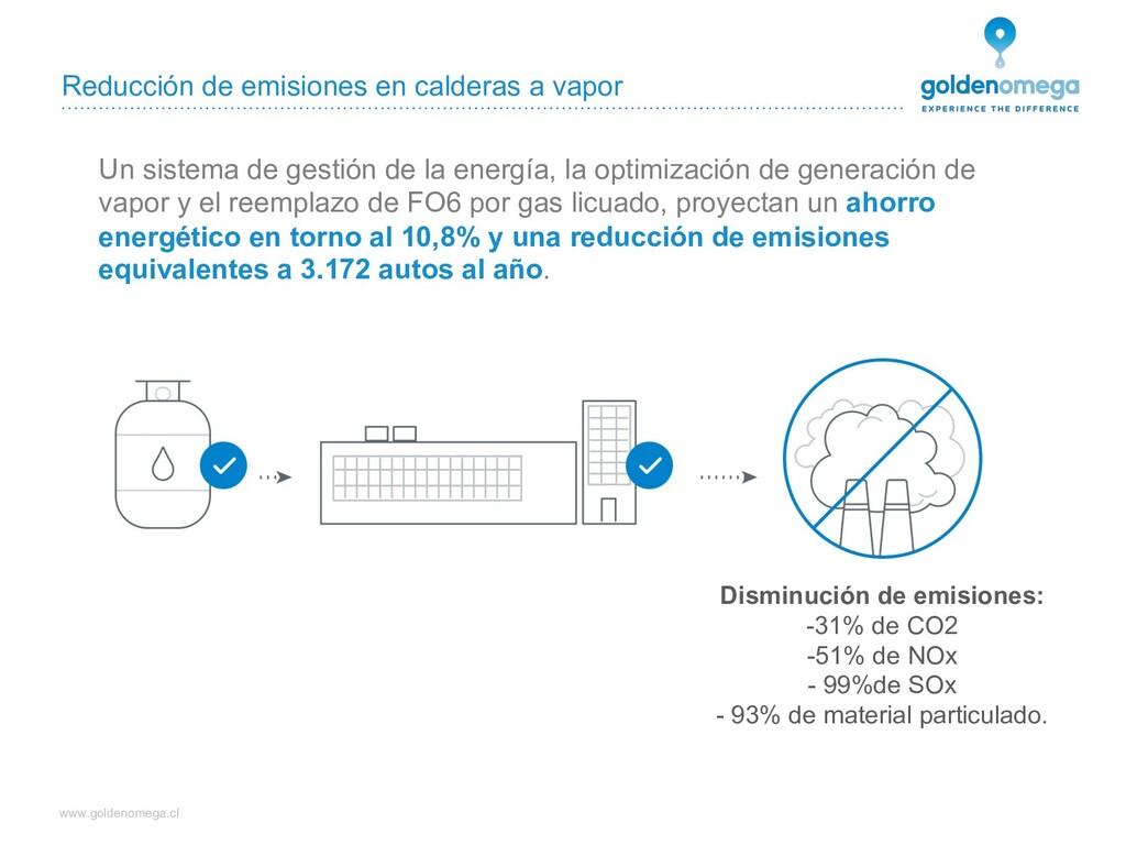 www.goldenomega.cl Reducción de emisiones en ca...