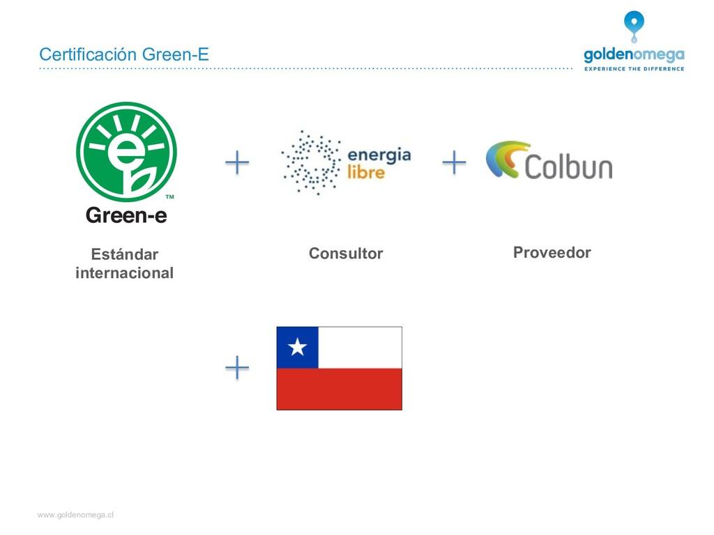www.goldenomega.cl Certificación Green-E Estánd...