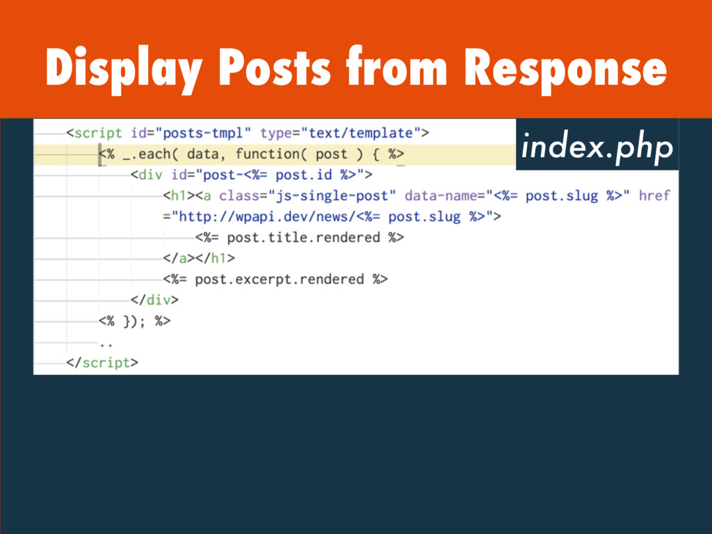 Display Posts from Response index.php