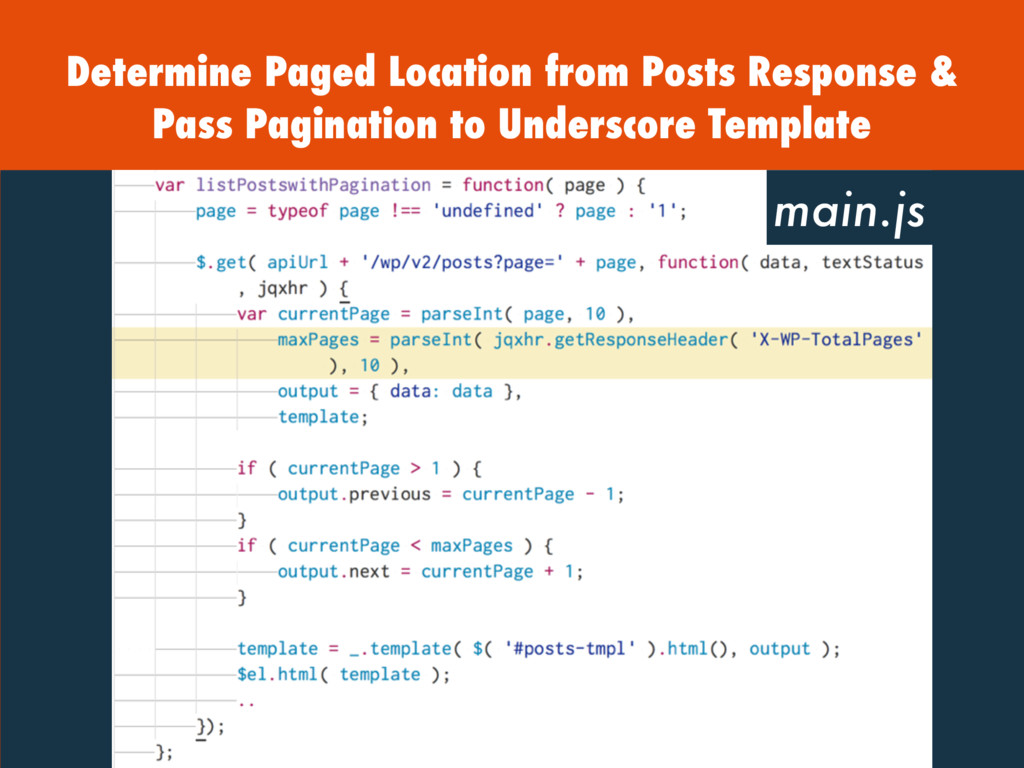 Determine Paged Location from Posts Response & ...
