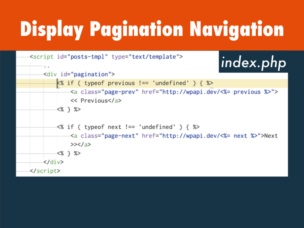 Display Pagination Navigation index.php