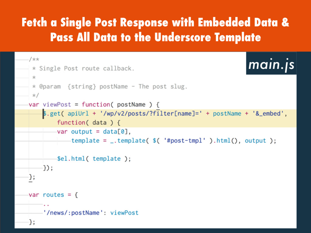 Fetch a Single Post Response with Embedded Data...