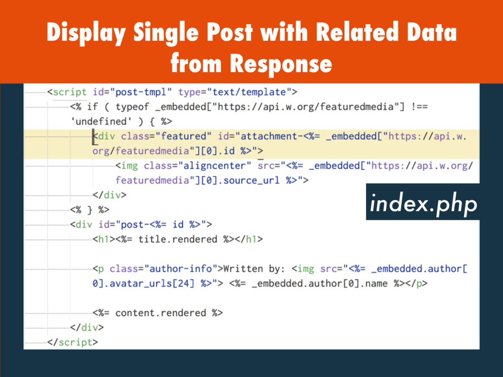 Display Single Post with Related Data from Resp...