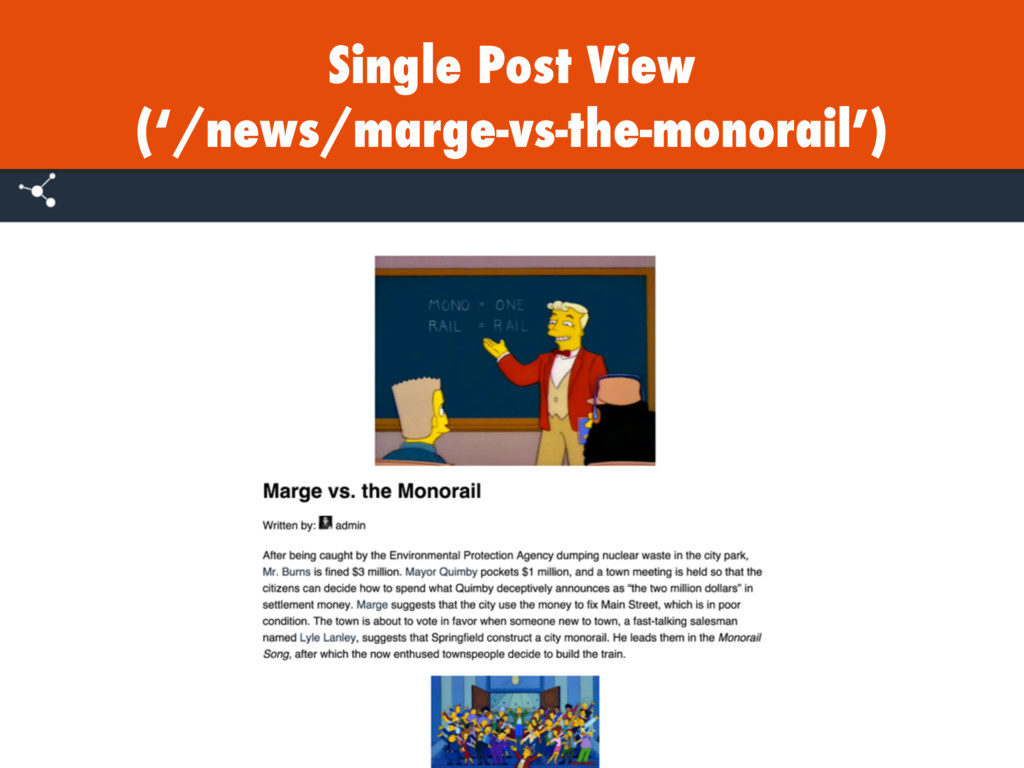Single Post View ('/news/marge-vs-the-monorail')