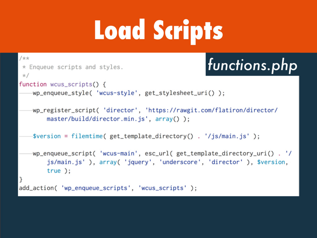 Load Scripts functions.php