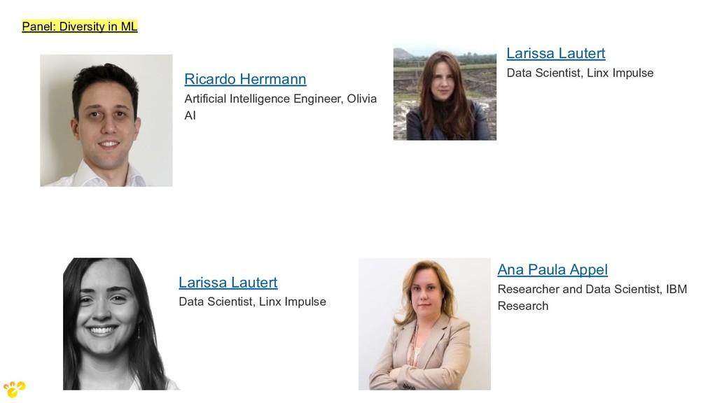 Panel: Diversity in ML Larissa Lautert Data Sci...