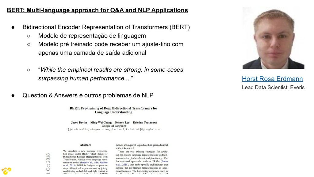 BERT: Multi-language approach for Q&A and NLP A...