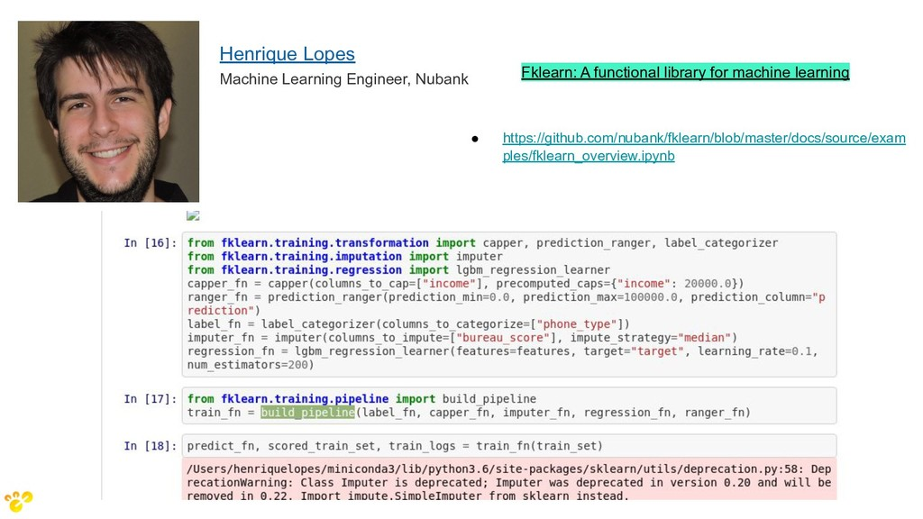 Fklearn: A functional library for machine learn...