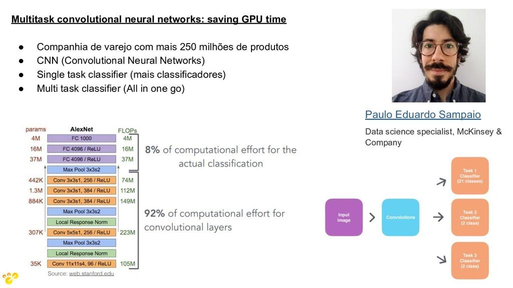 Multitask convolutional neural networks: saving...