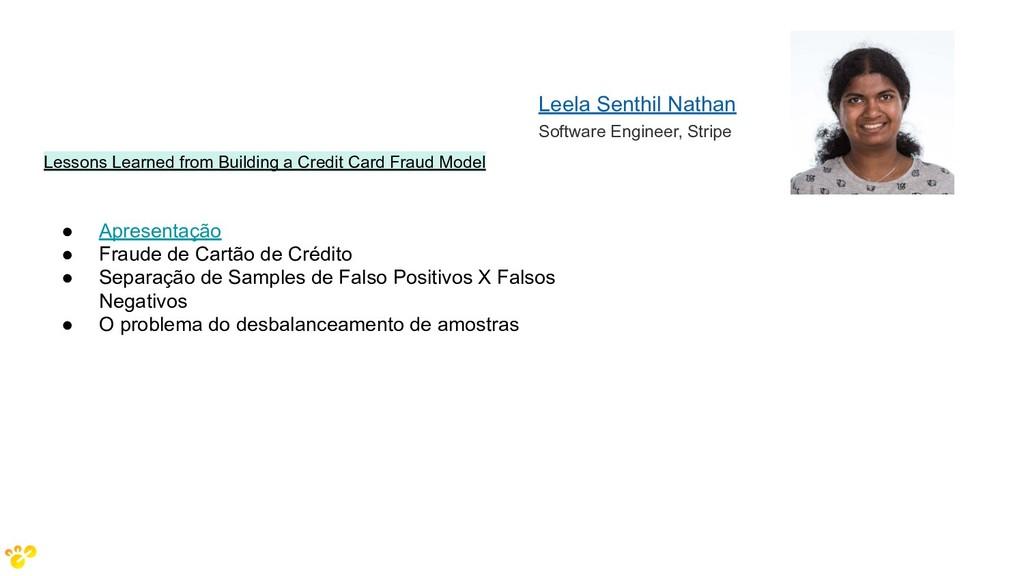 Leela Senthil Nathan Software Engineer, Stripe ...